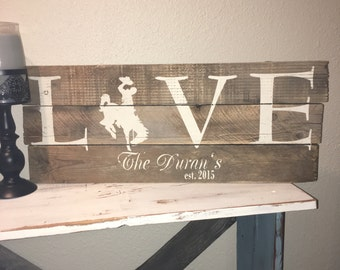 Custom Barn Wood Sign, LOVE Barn Wood 50 States/Symbol 24x11 sign. You choose state symbol and color, Hand painted, one of a kind.