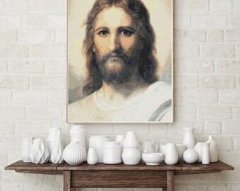 Counted Cross Stitch CHART Jesus by Heinrich Hofmann