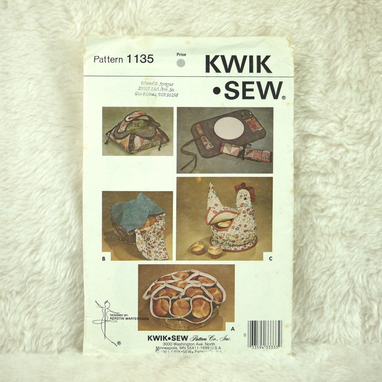 Henne vorhanden Tischset Muster Kwik Nähen 1135 gesteppten