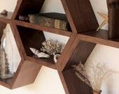 Minimalist Shelves - Geometric Shelf - Shelves - Shelving - Hexagon Shelf - Honeycomb Shelves - Modern shelf - Wall Shelf - Set of 3 Large