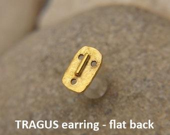 Tragus earring, MASK, Bioflex tragus earring, tragus 16G, tragus BioFlex, tragus piercing, labret, tragus earring flat back, stud earring, *