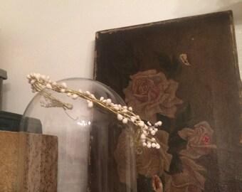 Antique wax flower bridal crown