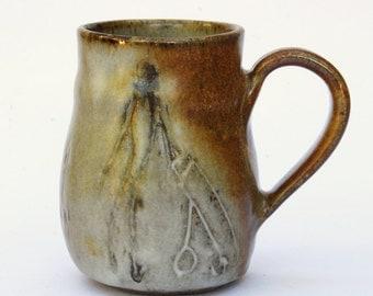 Artsy Mug, 12 oz Golf Handmade Ceramic Mug in earth colors.