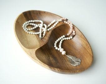 Feather Pendant Necklace, Boho Necklace