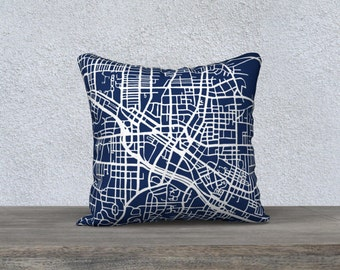 Durham Map Pillow Cover