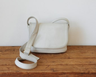 COACH Cream White Sonoma Pebble Leather Small Flap Crossbody Purse 4919/ Vintage Off-White Ivory Coach Mini Cross Body Messenger Handbag