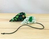 Saint Patrick's Day cat toys, Shamrock pet toys, Organic catnip cat toys, green white black