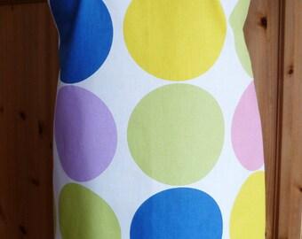 Full length apron - big circles print