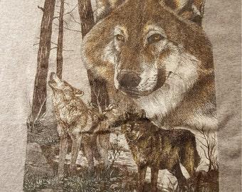Alpha Wolves Utah 80s Tee size M