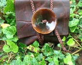 FINAL SALE: Coco Stout~~ Rich and Creamy Grunge Leather Stone~ Stash~ Jewelry~ Travel Pouch~