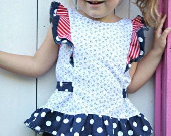 PATTERN Girls Party Dress & Top - Little Miss Sweetie Pie - PDF Sewing Pattern - Instant Download