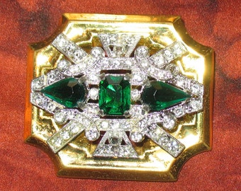 1930s McClelland Barclay Jewelry, Barclay Art Deco Pin, Barclay, 1930s Deco Designer Brooch, Signed Brooch, 1930s, 1930s Art Nouveau Brooch