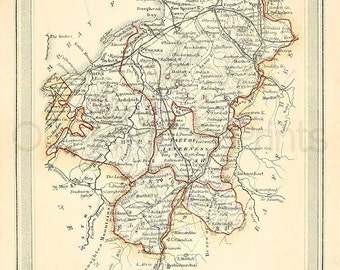 Elgin and Nairn Shires c.1857 - Antique Scottish County Map of Elgin and Nairn - 8 x 11 ins PRINT - FREE P&P UK