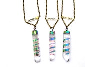 Quartz point Necklace. Mantra necklace. Yoga jewelry. Be here now. Breathe.