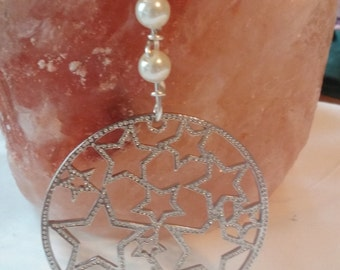 Wire Wrapped Star beaded pendant