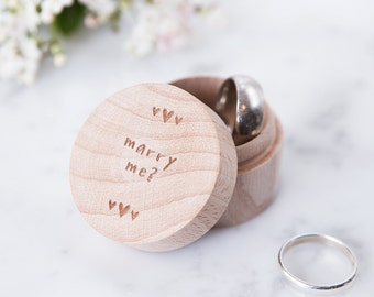 Personalised Proposal Ring Box - Engagement Ring Box - Will You Marry Me - Rustic Wedding - Rustic Ring Box - Proposal Box - Engagement Gift