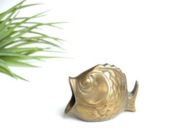 Brass fish ashtray - 1950s