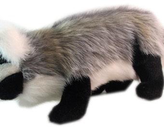 Handmade American Badger Wildlife Plush Stuffed Animal Toy