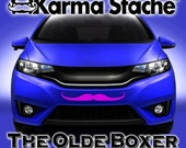 """24"""" Car Mustache Vinyl Decal Sticker - Style; Olde Boxer - Color; Pink  -  Karma Stache: Your #1 Source for Car Mustaches!"""