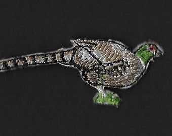 Pheasant  Embroidered Iron On Patch / Applique
