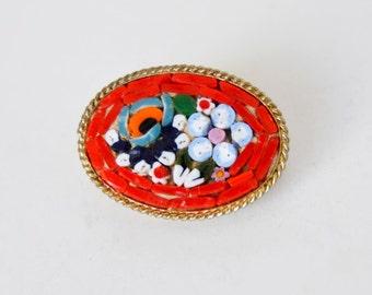 brooch vintage mosaic