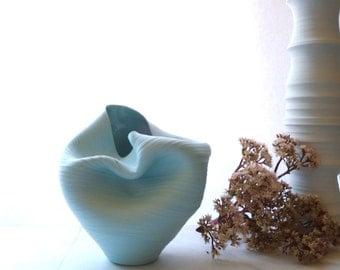 Sample Sale, Casper Vase in Pale Aqua, Handmade Ceramics, Stained Porcelain Pottery, Wheel Thrown