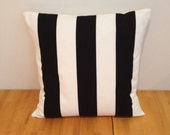 Black and white striped cushion cover, Sofia Vargyllen fabric, 14''  16'' 18'' 20'' 22'' 24''