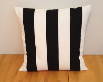 Black and white striped cushion cover, Sofia Vargyllen fabric, 14''  16'' 18'' 20'' 22'' 24''