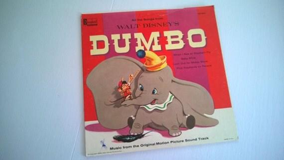 Vintage Walt Disney's Dumbo Soundtrack Record