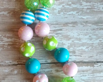 Neon Easter Peep Chunky Necklace