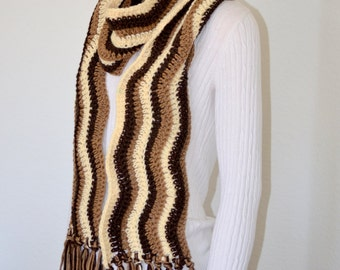 Ombre Scarf/ Crochet Winter Scarf