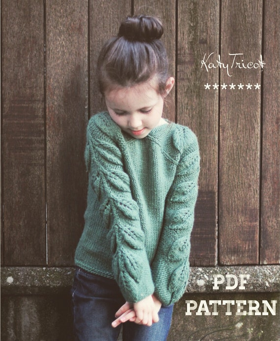 Knitting Pattern - BELEAF ME (Child Sizes from 1 to 14 yo) - English & Ru...