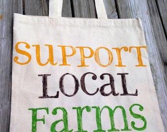 Canvas Tote - Support Local Farms