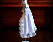 Lavender Purple & White Stripe Seersucker Lace Ruffle Back Smocked Sundress, Steady As She Goes toddler 2T 3T CUSTOM flower girl party dress