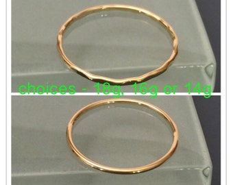 18k Yellow Gold Ring, 18k Stack Ring, 18k Solid gold Ring