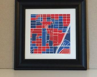 Southern Methodist University Map Print