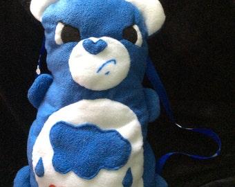 Grumpy bear care bear plush backpack