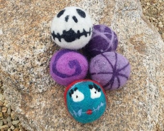 Wool dryer ball set- Nightmare