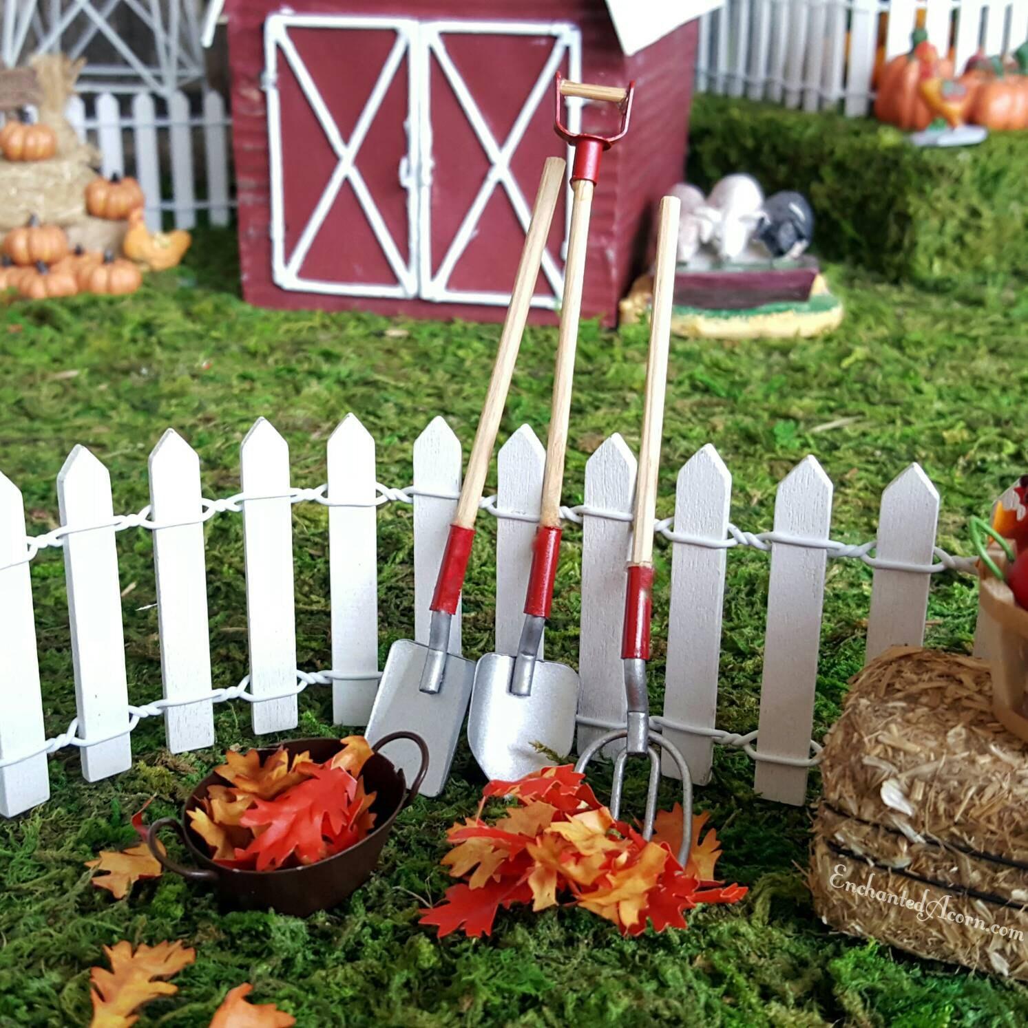 Fairy garden accessories tools set of 3 terrarium for Garden tools accessories