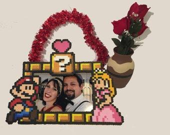 Mario Peach 5x7 Perler Frame