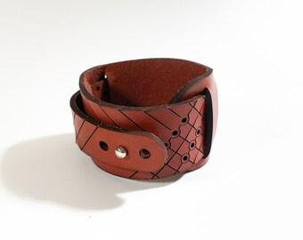 Arc Wrap Leather Cuff Bracelet, wrap bracelet, leather bracelet, mens bracelet, double leather wrap bracelet, cuff, leather cuff, hipster
