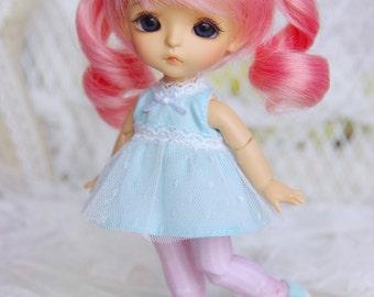 Lati Yellow/ Puki Fee - Floral & Stripe Legging/Pantyhose - PinkStripe