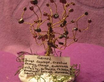 HEALING  TREE -GARNET Stones
