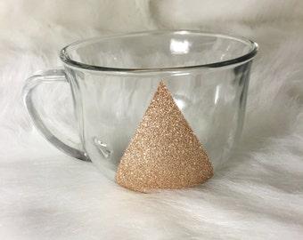 Gold Glitter Triangle Mug