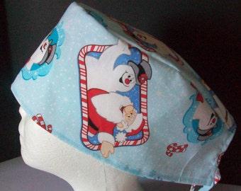Surgical cap, PRE MADE (regular, no elastic) tie back d