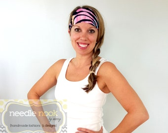 The Tie Dye Yoga Headband - Spandex MultiColor Headband - Boho Wide Headband
