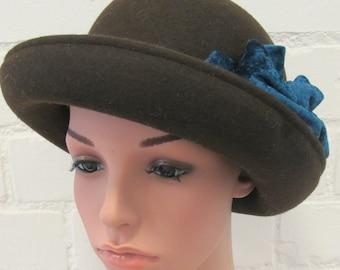 Vintage Brown Bowler Hat