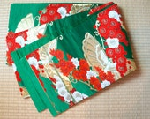 Japanese obi belt green b...