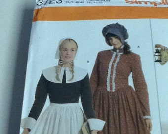 Costume Sew Pattern SZ 14-22, Pioneer Woman, Colonist, Prairie Wife, Pilgrim Halloween Simplicity 3723