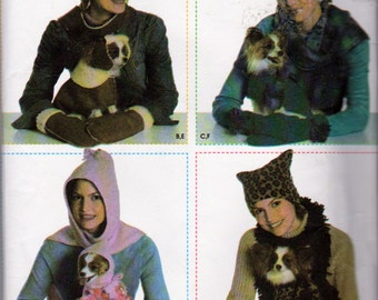 Simplicity 4780, Dog Clothes and Accessories , Misses Matching Winter Accessories, Sewing Pattern, Dog Coats, Hats, Misses Hats, Scarves